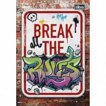 Imagem - Caderno Brochura Capa Dura 1/4 Graffiti 80 Folhas (Pacote com 5 unidades) - Sortido