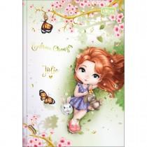 Imagem - Caderno Brochura Capa Dura 1/4 Jolie 80 Folhas (Pacote com 5 unidades) - Sortido