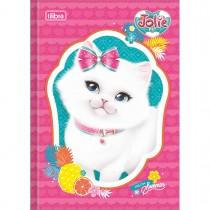Imagem - Caderno Brochura Capa Dura 1/4 Jolie Pet 80 Folhas - Sortido (Pacote com 5 unidades)