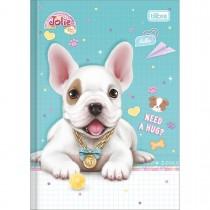 Imagem - Caderno Brochura Capa Dura 1/4 Jolie Pet 80 Folhas (Pacote com 5 unidades) - Sortido