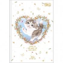 Caderno Brochura Capa Dura 1/4 Jolie Pet 80 Folhas (Pacote com 5 unidades) - Sortido
