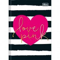 Imagem - Caderno Brochura Capa Dura 1/4 Love Pink 48 Folhas - Sortido