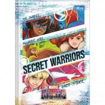 Imagem - Caderno Brochura Capa Dura 1/4 Marvel Rising 80 Folhas (Pacote com 5 unidades) - Sortido