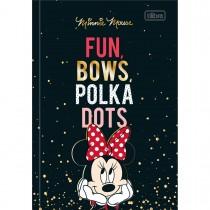 Imagem - Caderno Brochura Capa Dura 1/4 Minnie 80 Folhas - Fun, Bows, Polka Dots - Sortido