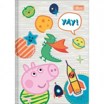 Imagem - Caderno Brochura Capa Dura 1/4 Peppa Pig 40 Folhas - Sortido (Pacote com 5 unidades)
