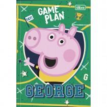 Caderno Brochura Capa Dura 1/4 Peppa Pig 80 Folhas (Pacote com 5 unidades) - Sortido