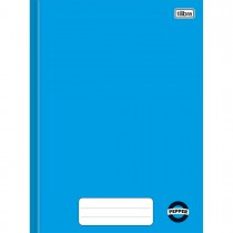 Caderno Brochura Capa Dura 1/4 Pepper Azul 80 Folhas