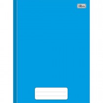 Imagem - Caderno Brochura Capa Dura 1/4 Pepper Azul 80 Folhas