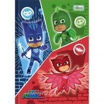 Imagem - Caderno Brochura Capa Dura 1/4 PJ Masks 48 Folhas (Pacote com 5 unidades) - Sortido