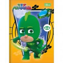 Imagem - Caderno Brochura Capa Dura 1/4 PJ Masks 80 Folhas (Pacote com 5 unidades) - Sortido