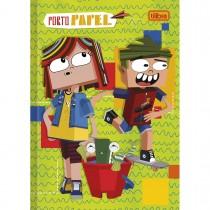 Imagem - Caderno Brochura Capa Dura 1/4 Porto Papel 80 Folhas - Sortido (Pacote com 5 unidades)