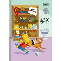 Caderno Brochura Capa Dura 1/4 Simpsons 80 Folhas (Pacote com 5 unidades) - Sortido