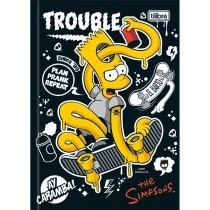 Imagem - Caderno Brochura Capa Dura 1/4 Simpsons 96 Folhas (Pacote com 5 unidades) - Sortido
