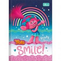 Imagem - Caderno Brochura Capa Dura 1/4 Trolls 80 Folhas (Pacote com 5 unidades) - Sortido