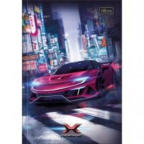 Imagem - Caderno Brochura Capa Dura 1/4 X-Racing 80 Folhas (Pacote com 5 unidades) - Sortido