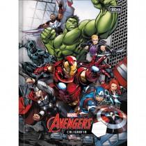 Imagem - Caderno Brochura Capa Dura Caligrafia Avengers 40 Folhas - Sortido (Pacote com 5 unidades)