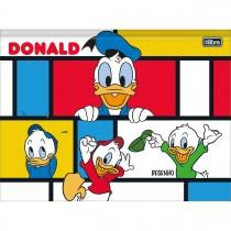 Imagem - Caderno Brochura Capa Dura Desenho Universitário Donald 80 Folhas (Pacote com 5 unidades) - Sortido