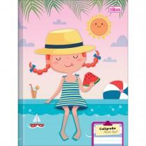 Imagem - Caderno Brochura Capa Dura Pauta Azul Sapeca 40 Folhas - Sortido (Pacote com 8 unidades)
