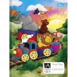 Imagem - Caderno Brochura Capa Dura Pauta Verde Académie Kids 40 Folhas