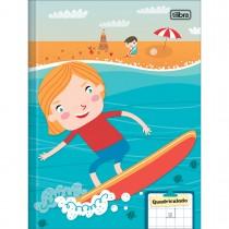 Imagem - Caderno Brochura Capa Dura Quadriculado 1x1cm Sapeca 40 Folhas - Sortido (Pacote com 8 unidades)