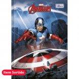 Imagem - Caderno Brochura Capa Dura Top 1/4 Avengers 96 Folhas - Sortido (Pacote com 5 unidades)