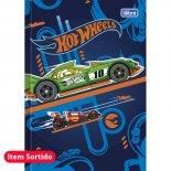 Imagem - Caderno Brochura Capa Dura Top 1/4 Hot Wheels 48 Folhas - Sortido (Pacote com 5 unidades)