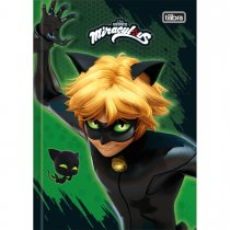 Imagem - Caderno Brochura Capa Dura Top 1/4 Miraculous: Cat Noir 80 Folhas - Sortido (Pacote com 5 unidades)