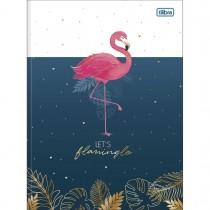 Imagem - Caderno Brochura Capa Dura Universitário Aloha 80 Folhas - Let's Flamingle - Sortido