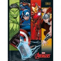 Imagem - Caderno Brochura Capa Dura Universitário Avengers 48 Folhas (Pacote com 5 unida...