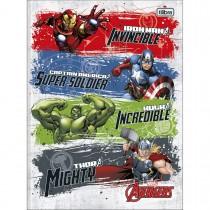 Imagem - Caderno Brochura Capa Dura Universitário Avengers 80 Folhas - Quatro Heróis Fundo Branco - Sortido