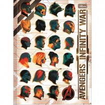 Imagem - Caderno Brochura Capa Dura Universitário Avengers Infinity War 80 Folhas - Sortido (Pacote com 5 unidades)...