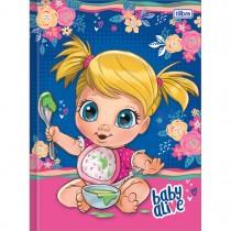 Imagem - Caderno Brochura Capa Dura Universitário Baby Alive 80 Folhas - Sortido