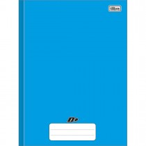 Imagem - Caderno Brochura Capa Dura Universitário D+ Azul 96 Folhas