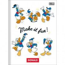 Imagem - Caderno Brochura Capa Dura Universitário Donald 80 Folhas (Pacote com 5 unidades) - Sortido