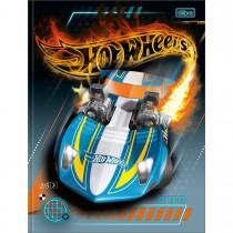 Imagem - Caderno Brochura Capa Dura Universitário Hot Wheels 80 Folhas - Carro Azul - Sortido