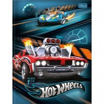 Imagem - Caderno Brochura Capa Dura Universitário Hot Wheels 80 Folhas - Carro Vermelho e Azul - Sortido