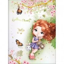 Imagem - Caderno Brochura Capa Dura Universitário Jolie 80 Folhas (Pacote com 5 unidades) - Sortido