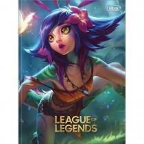 Caderno Brochura Capa Dura Universitário League of Legends 80 Folhas (Pacote com 5 unidades) - Sortido