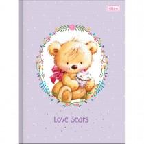Imagem - Caderno Brochura Capa Dura Universitário Love Bears 48 Folhas - Sortido (Pacote com 10 unidades)