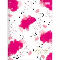 Imagem - Caderno Brochura Capa Dura Universitário Love Pink 80 Folhas (Pacote com 5 unidades) - Sortido
