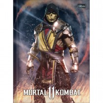 Imagem - Caderno Brochura Capa Dura Universitário Mortal Kombat 80 Folhas (Pacote com 5 unidades) - Sortido