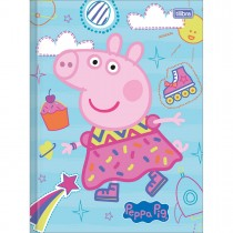 Imagem - Caderno Brochura Capa Dura Universitário Peppa Pig 80 Folhas (Pacote com 5 unidades) - Sortido