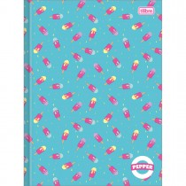Imagem - Caderno Brochura Capa Dura Universitário Pepper 40 Folhas - Sortido (Pacote com 5 unidades)