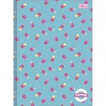 Imagem - Caderno Brochura Capa Dura Universitário Pepper 60 Folhas - Sortido (Pacote com 5 unidades)