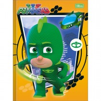 Imagem - Caderno Brochura Capa Dura Universitário PJ Masks 40 Folhas - Sortido (Pacote com 5 unidades)