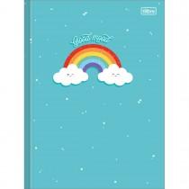 Imagem - Caderno Brochura Capa Dura Universitário Rainbow 80 Folhas (Pacote com 5 unidades) - Sortido