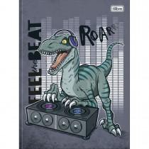 Imagem - Caderno Brochura Capa Dura Universitário Raptor 80 Folhas - Feel the Beat - Sortido