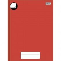 Imagem - Caderno Brochura Capa Dura Universitário sem Pauta Pepper Vermelho 80 Folhas