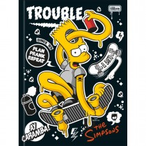 Imagem - Caderno Brochura Capa Dura Universitário Simpsons 48 Folhas - Sortido (Pacote com 5 unidades)