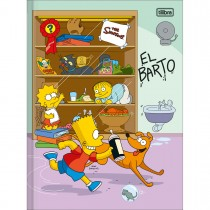 Imagem - Caderno Brochura Capa Dura Universitário Simpsons 48 Folhas (Pacote com 5 unidades) - Sortido